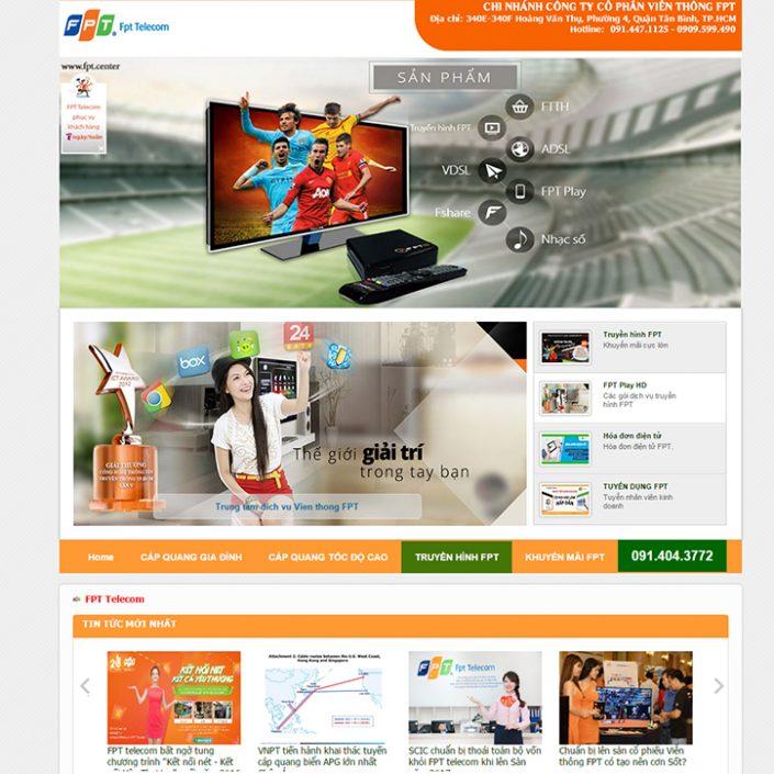 Thiết kế website chi nhánh FPT